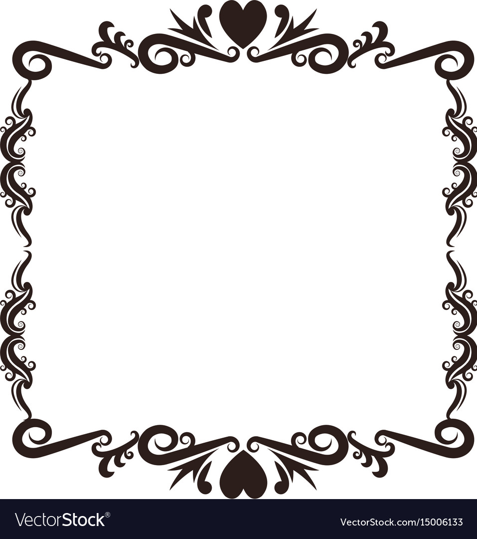 Antique Scroll Vector: Vintage Baroque Frame Scroll Floral Ornament Royalty Free