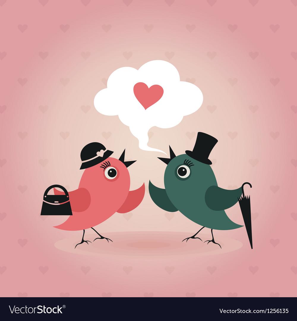 Bird of love vector image