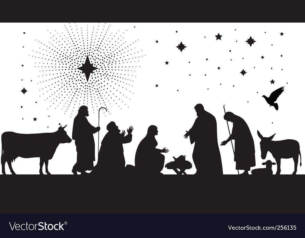 Star of Bethlehem vector image