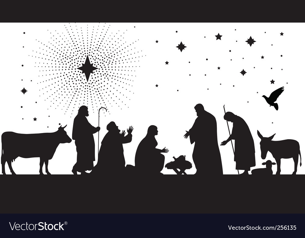 Star of Bethlehem vector image
