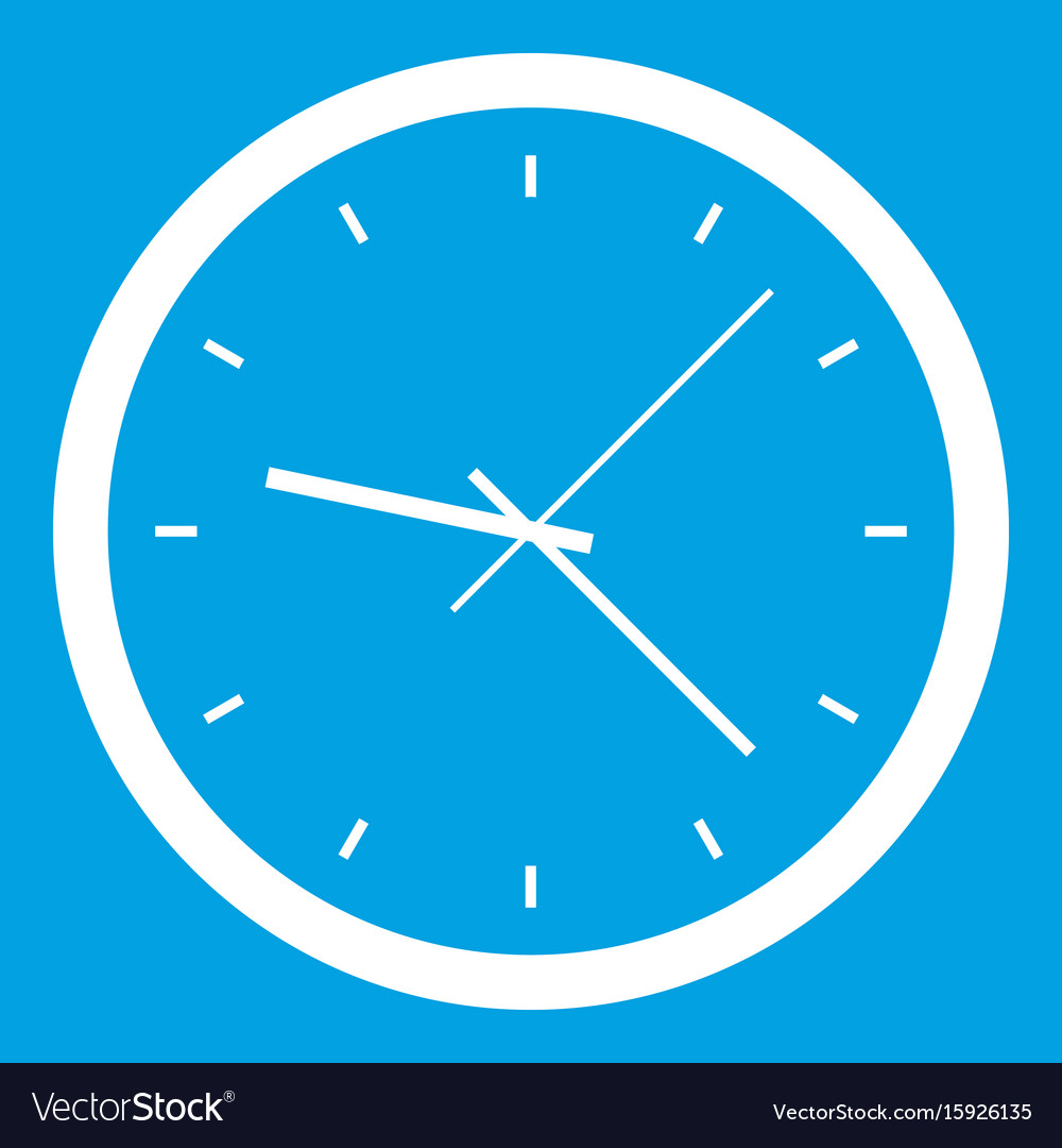 Wall clock icon white vector image