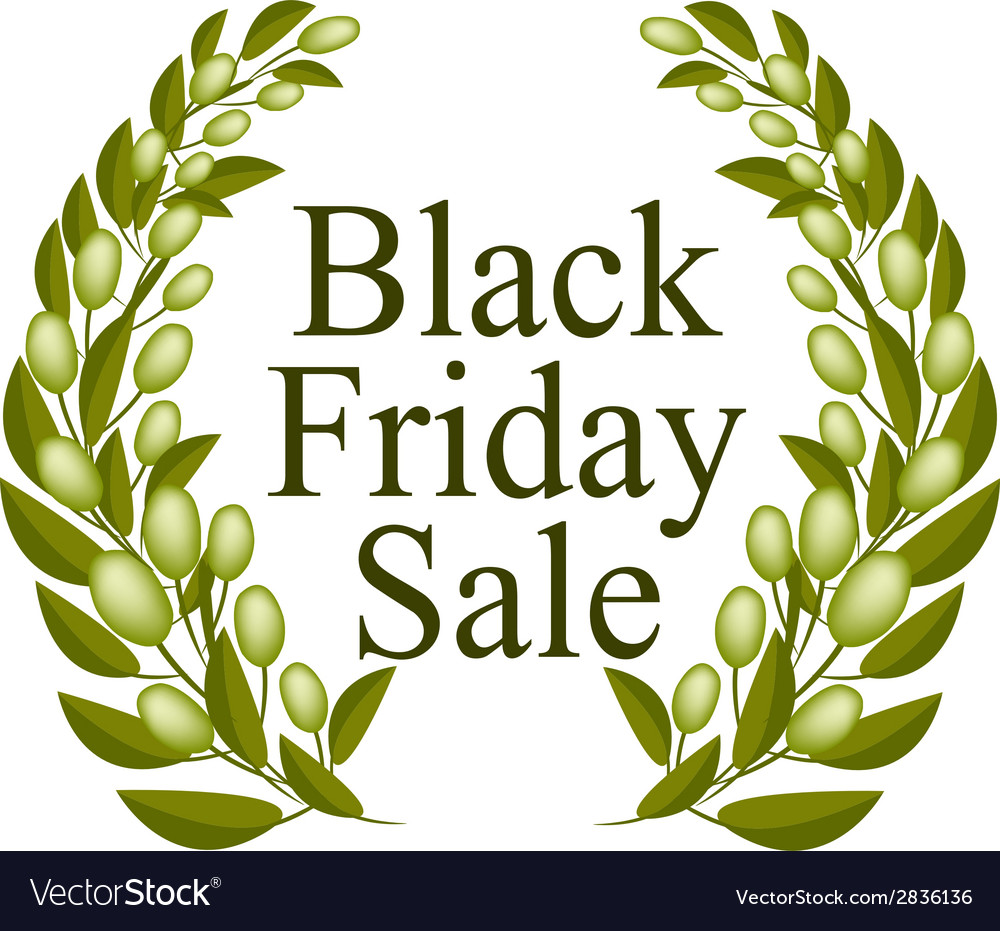 A Beautiful Olive Wreath for Black Friday Sale vector image