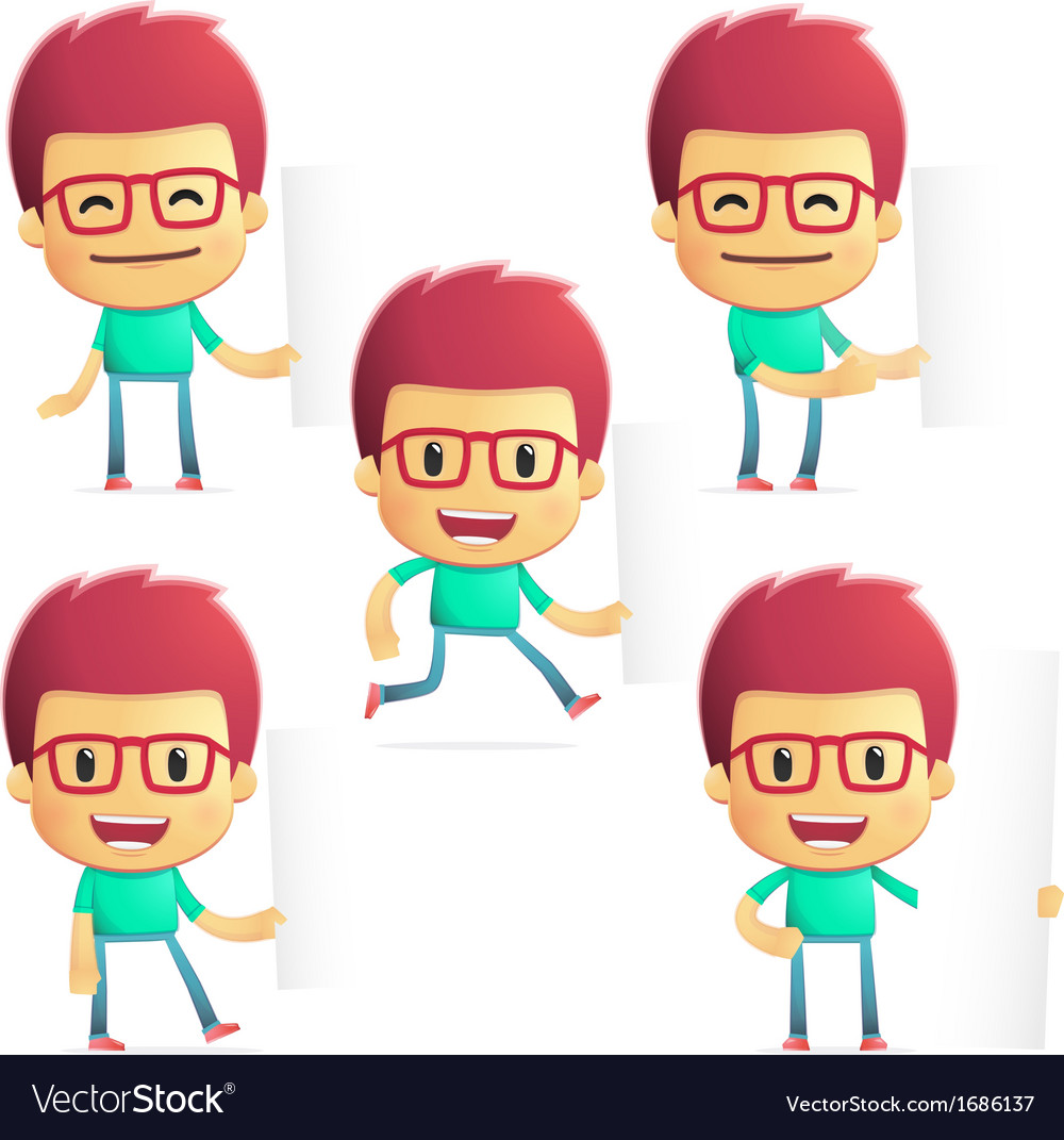 Casual man in various poses vector image