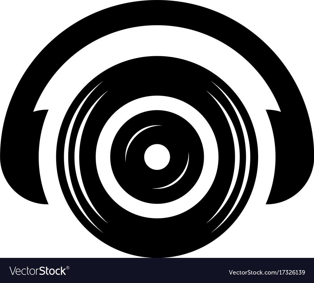 Headphone dj sound icon logo vector image