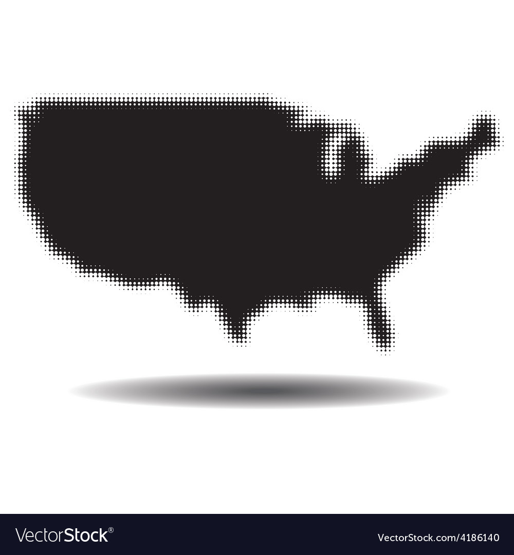 USA Background with Shadow vector image