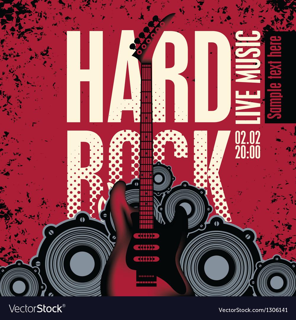 Hard Rock Vector Image