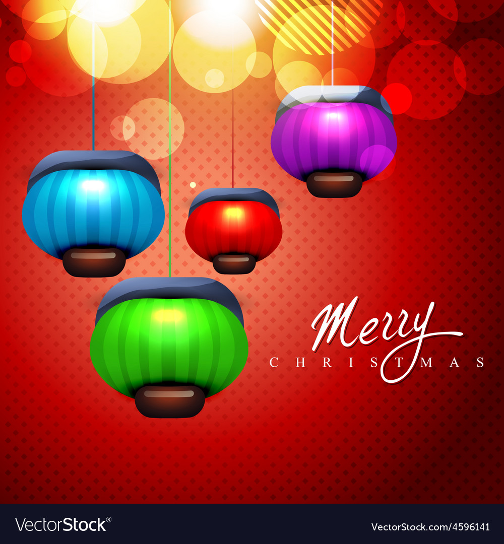 Christmas lamps vector image