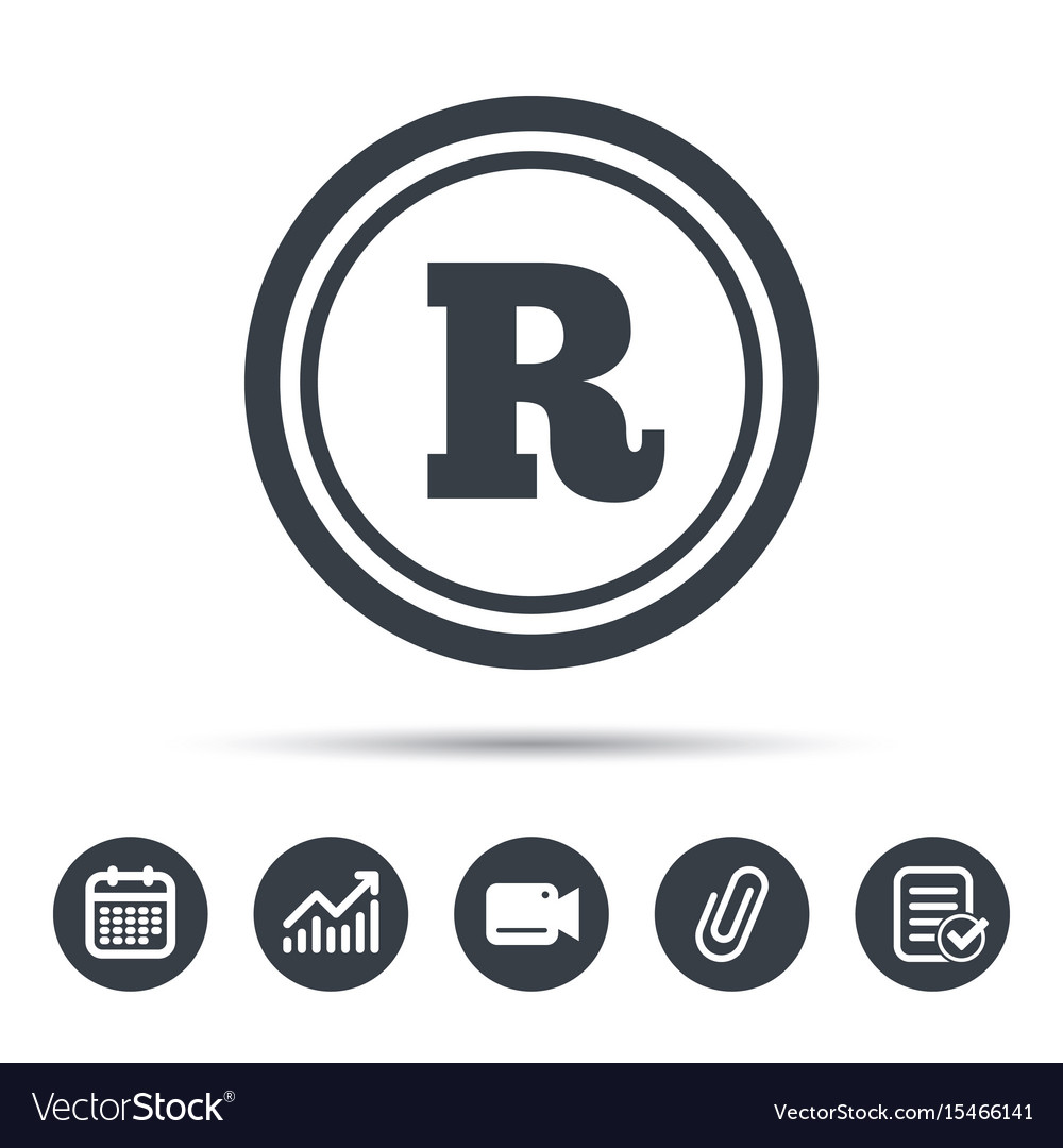 Registered trademark icon intellectual work vector image biocorpaavc Choice Image
