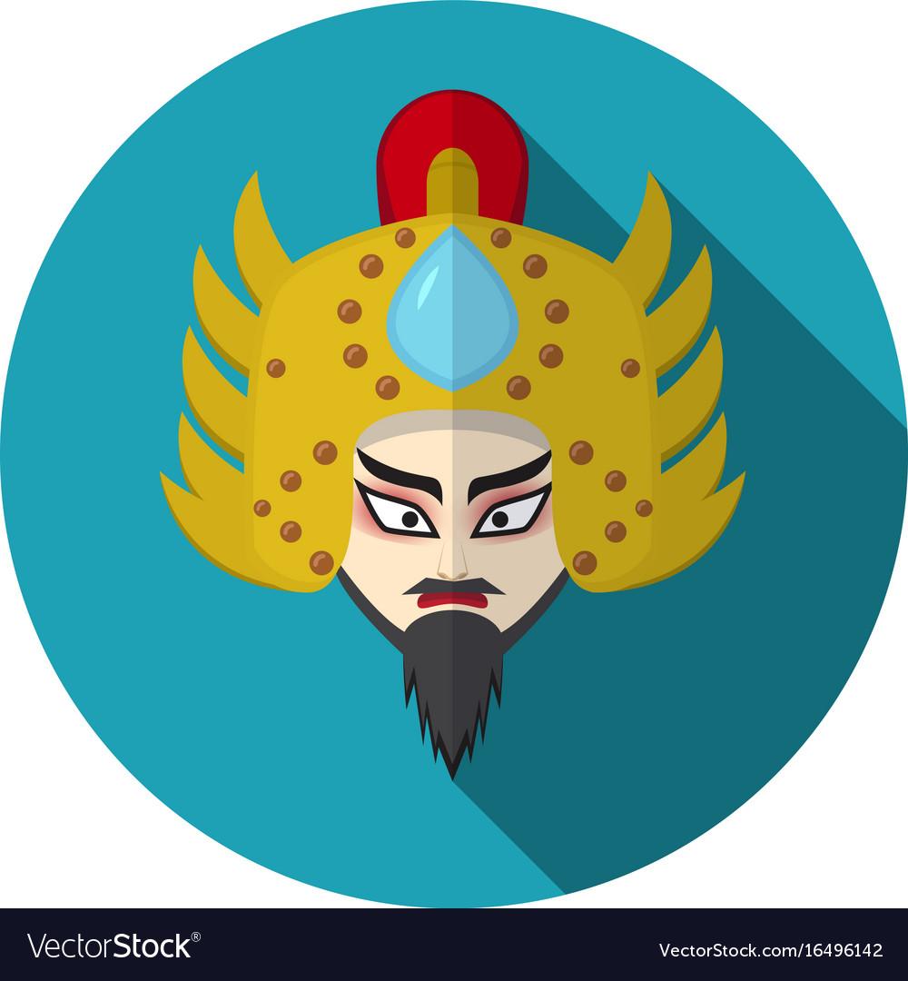 Chinese opera icon warrior and knight symbol vector image biocorpaavc Choice Image