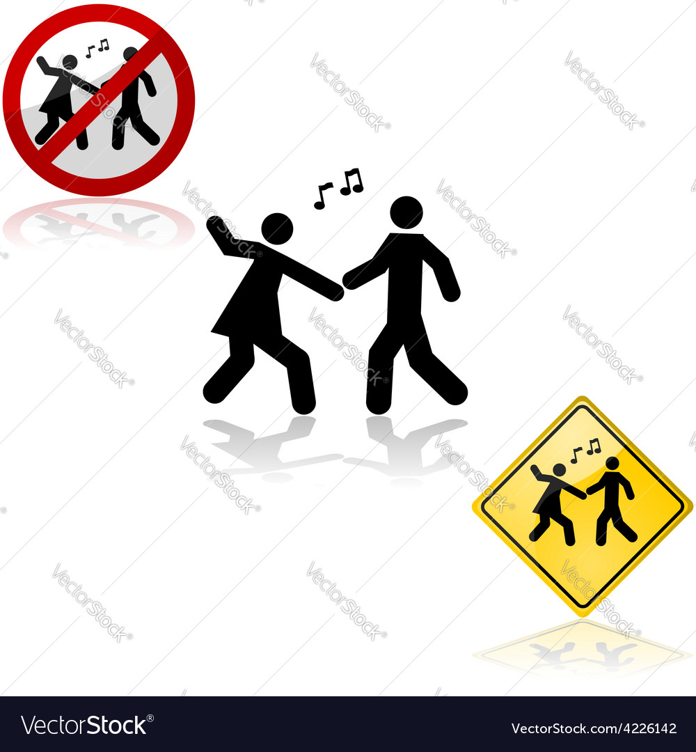 Dance signs vector image