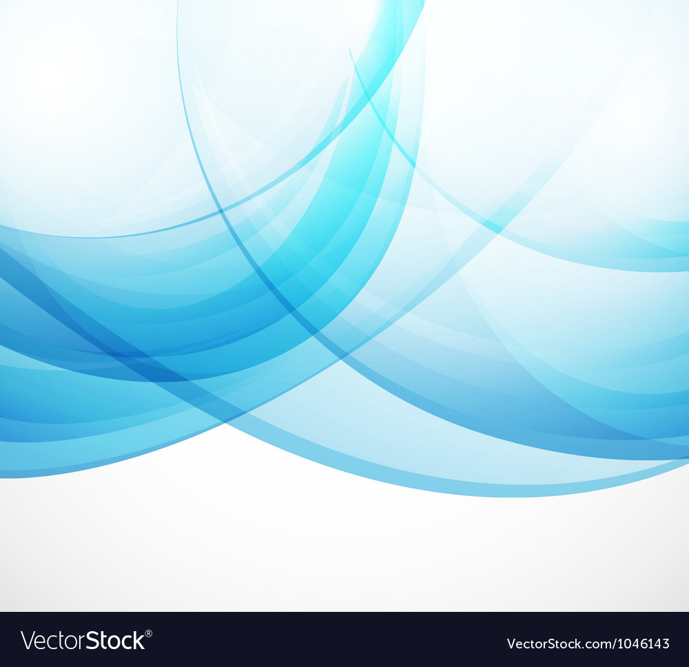Abstract background blue waves vector image