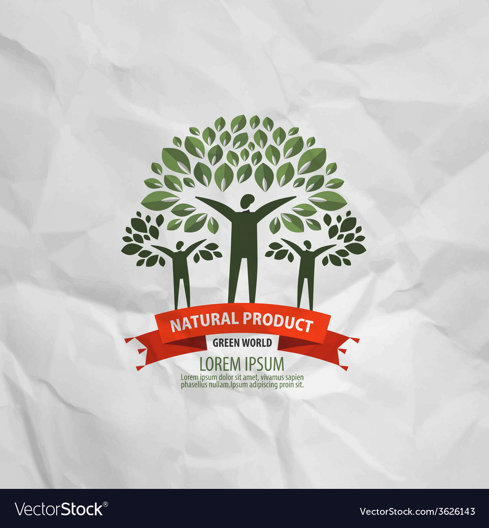 Nature logo design template ecology or bio icon vector image