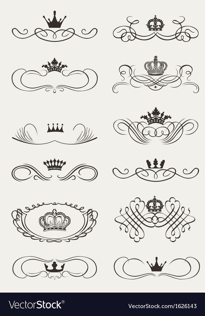 Royal Crown Calligraphy vector image