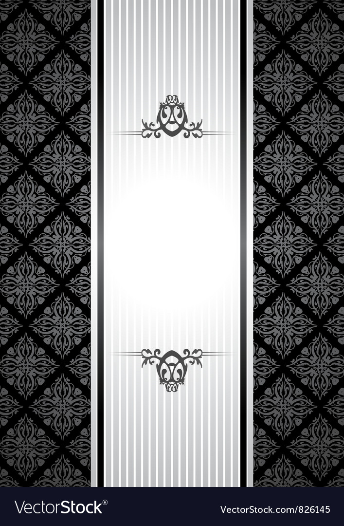 Black and white vintagebackground vector image