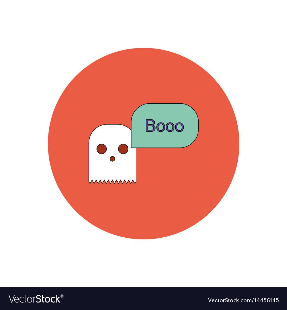 In flat design halloween icon