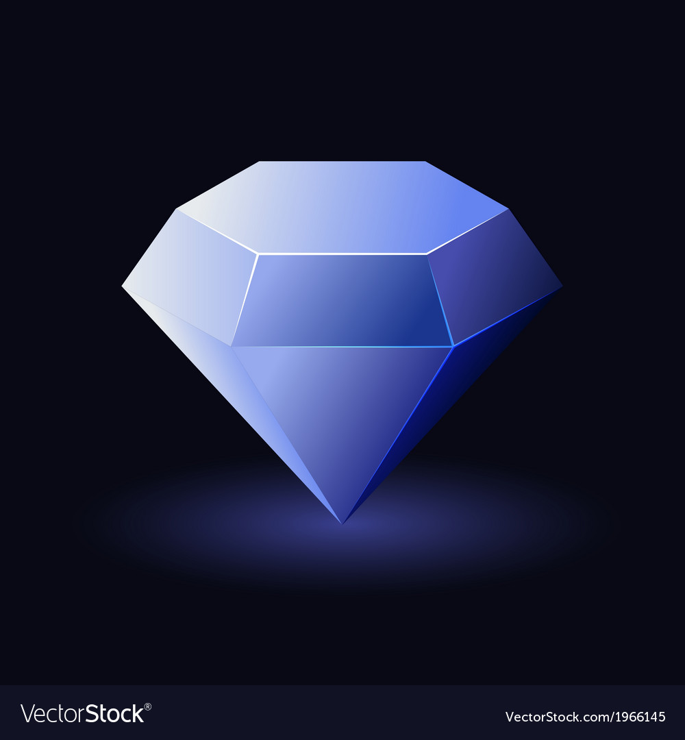Shiny Blue Diamond vector image