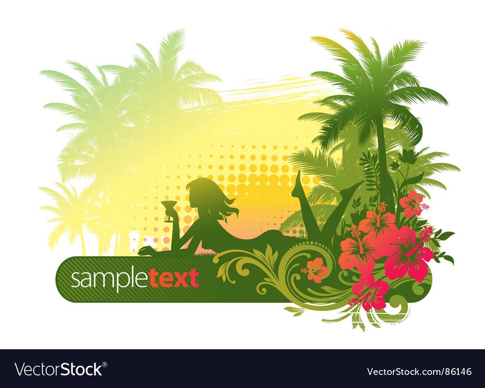 Tropical girl Vector Image