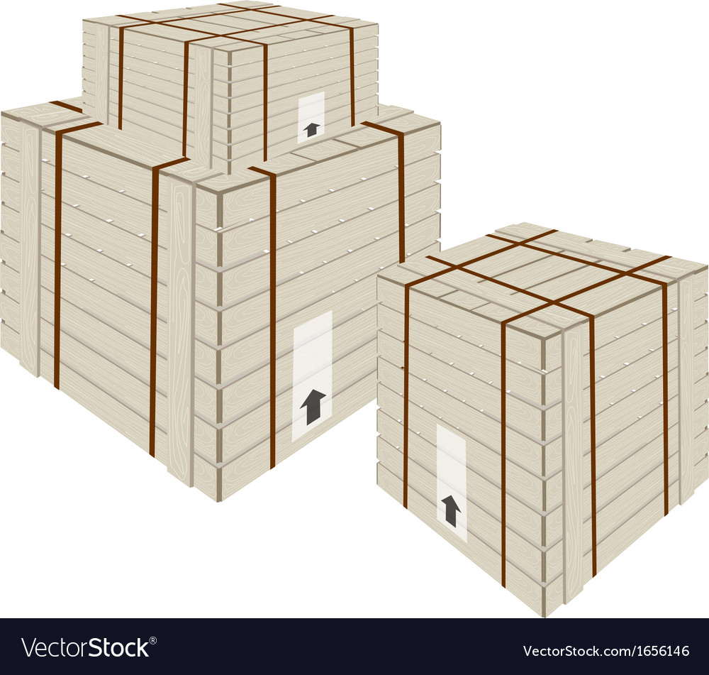 A Stack of Shipping Box with Steel Strapping vector image