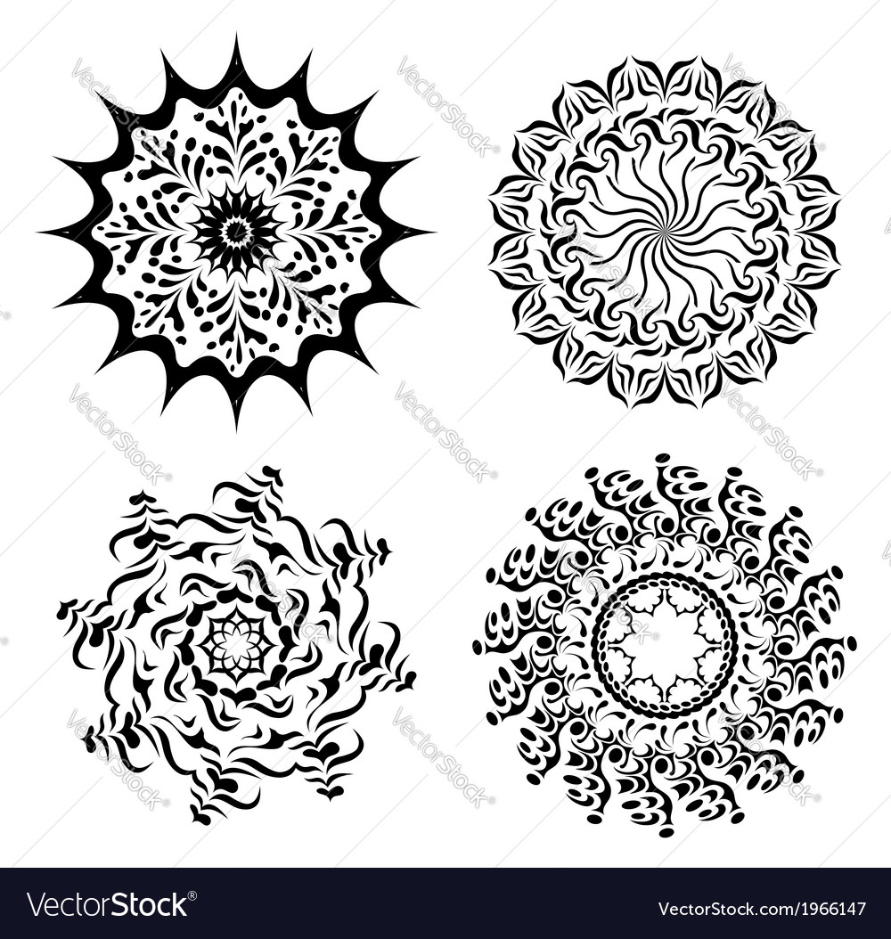 Abstract black elements for design - set vector image