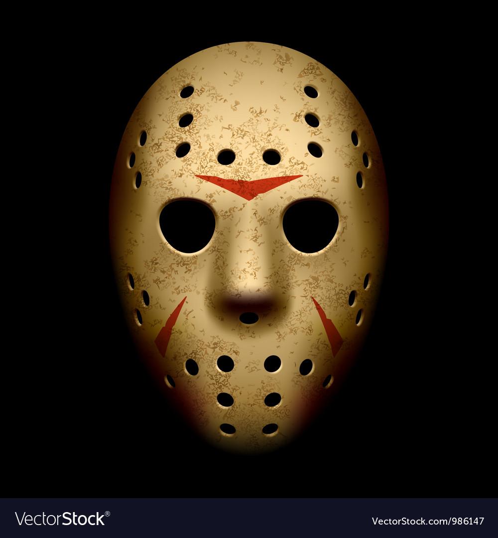 Scary hockey mask vector image