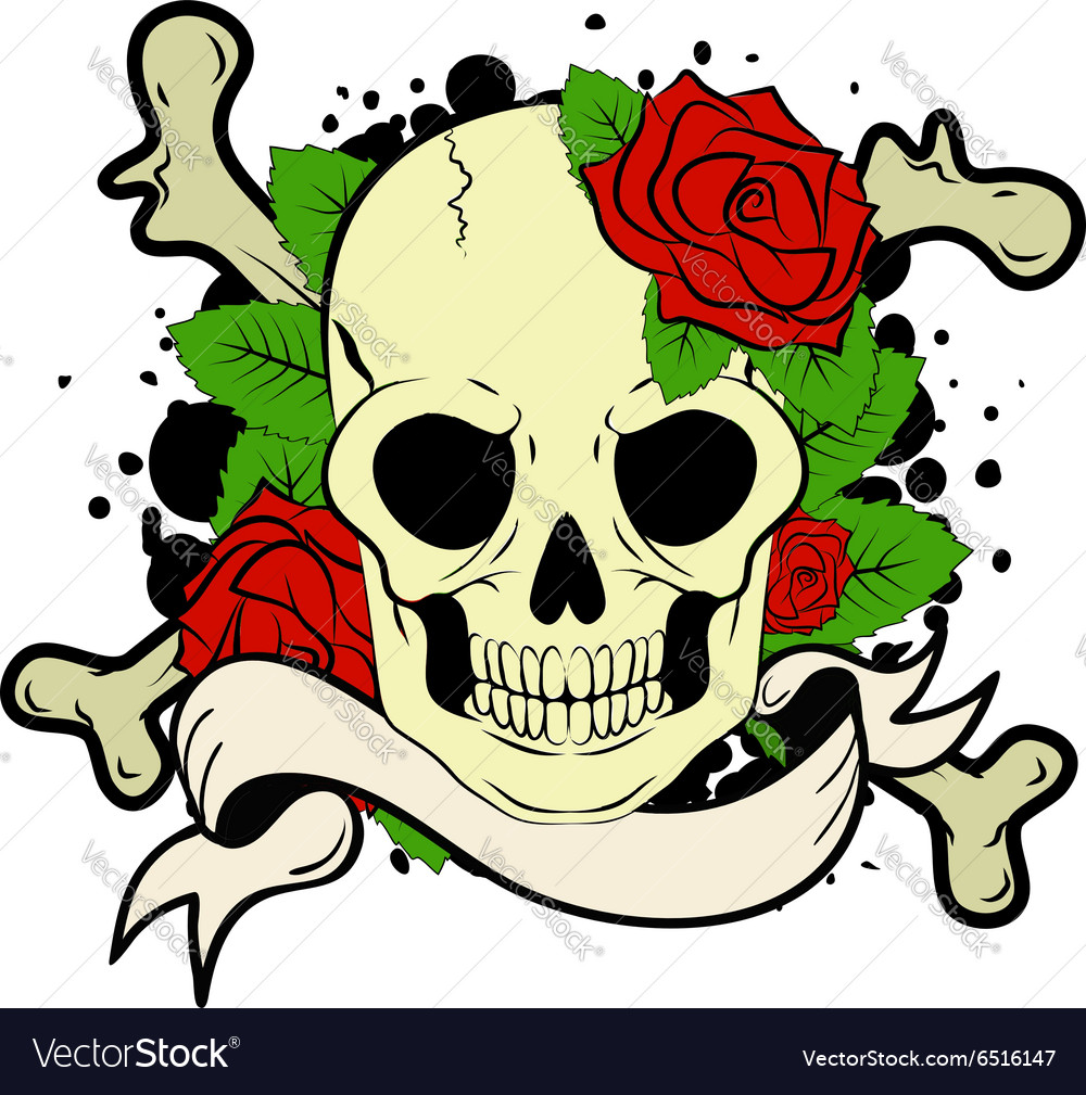 Skull tatoo vector image
