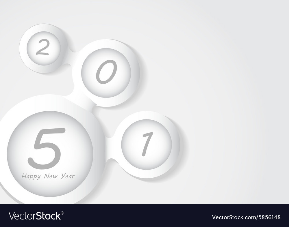 2015 Happy new year background vector image