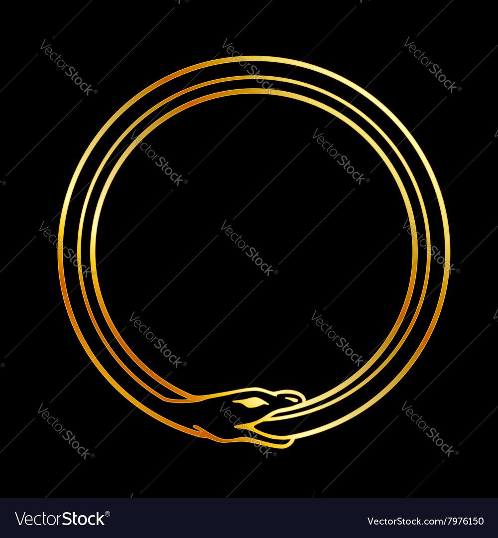 The symbol of ouroboros snake royalty free vector image the symbol of ouroboros snake vector image buycottarizona