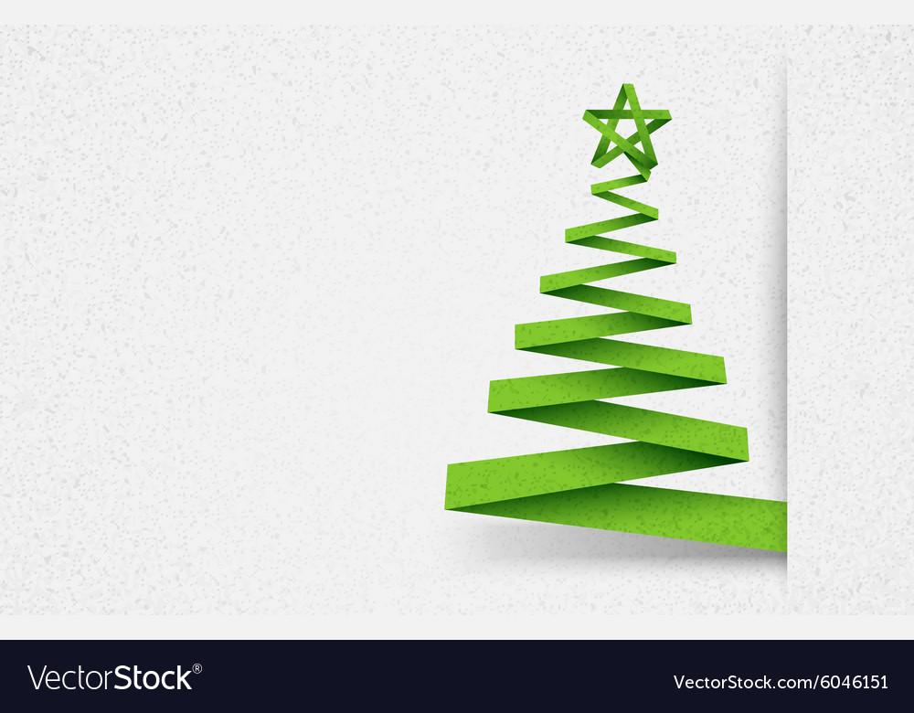 Paper tree green vector image