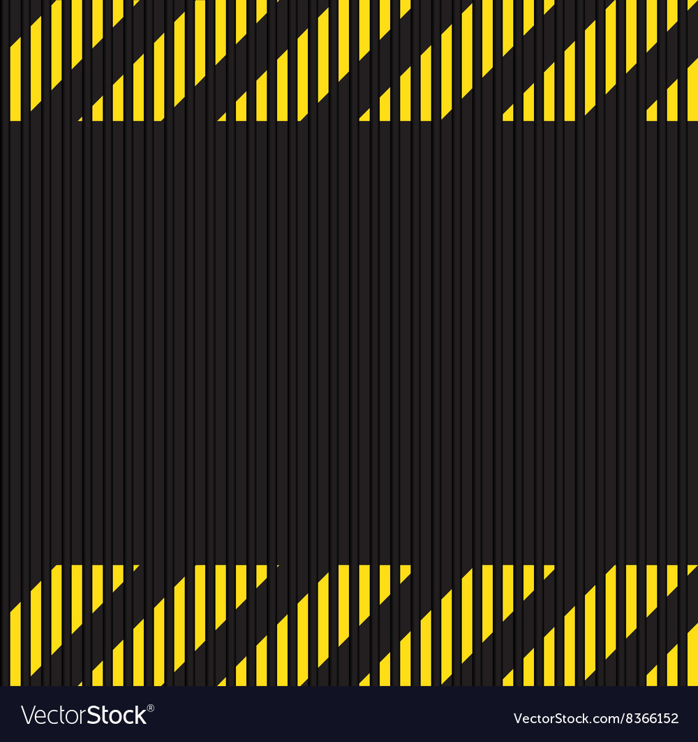 Seamless horizontal background of corrugated metal vector image