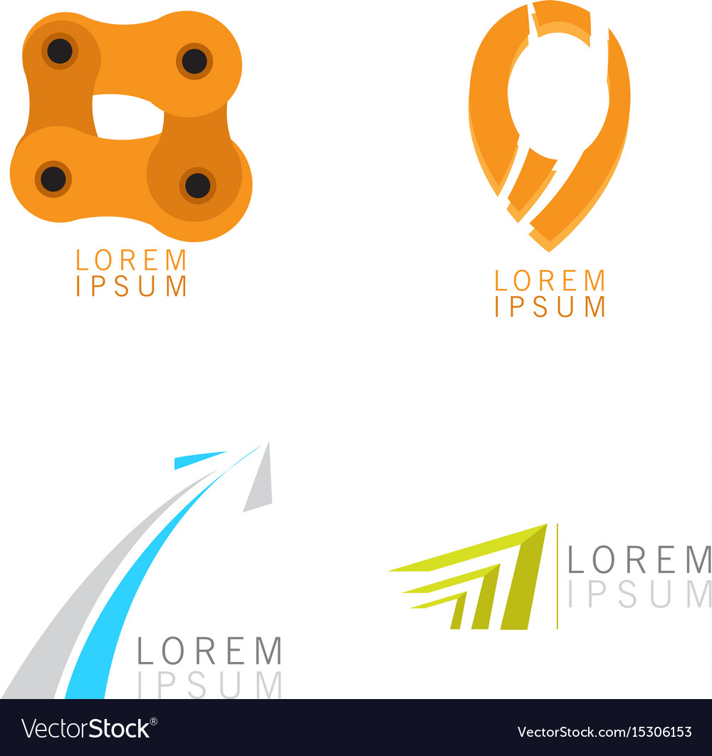 Set of business logos vector image