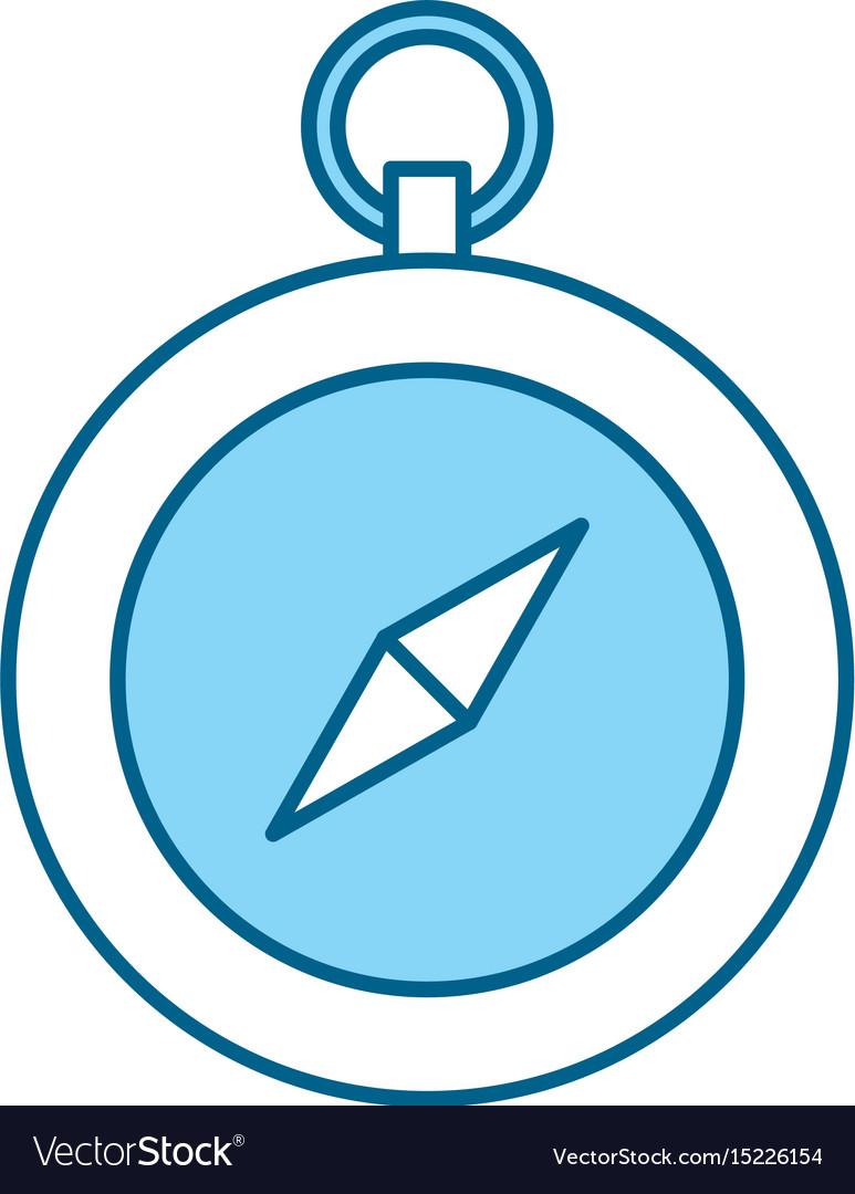 Cute blue compass cartoon vector image