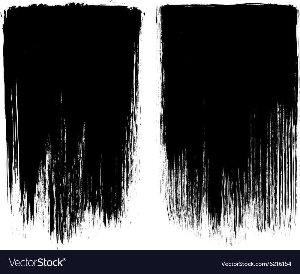 Grunge brush stroke background frames vector image