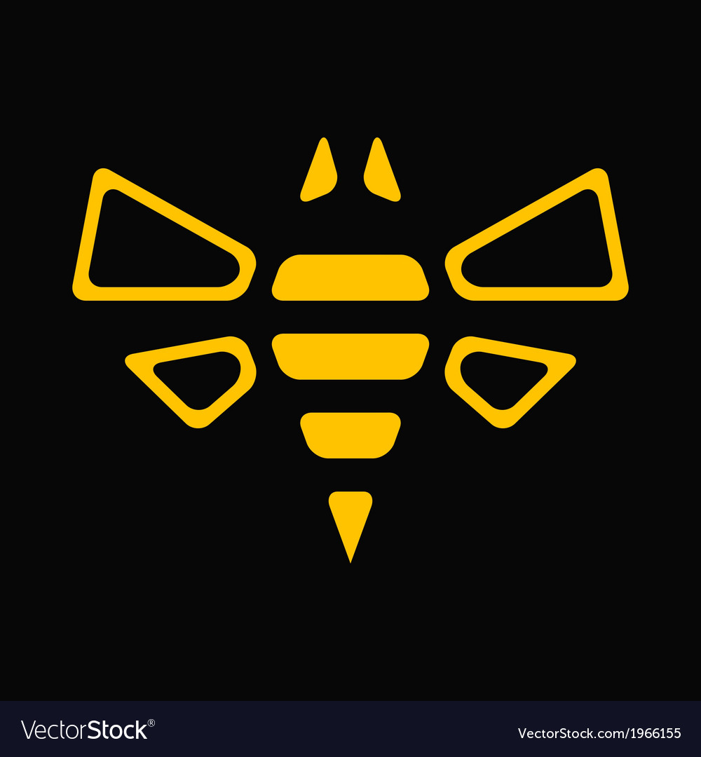 Abstract bee vector image