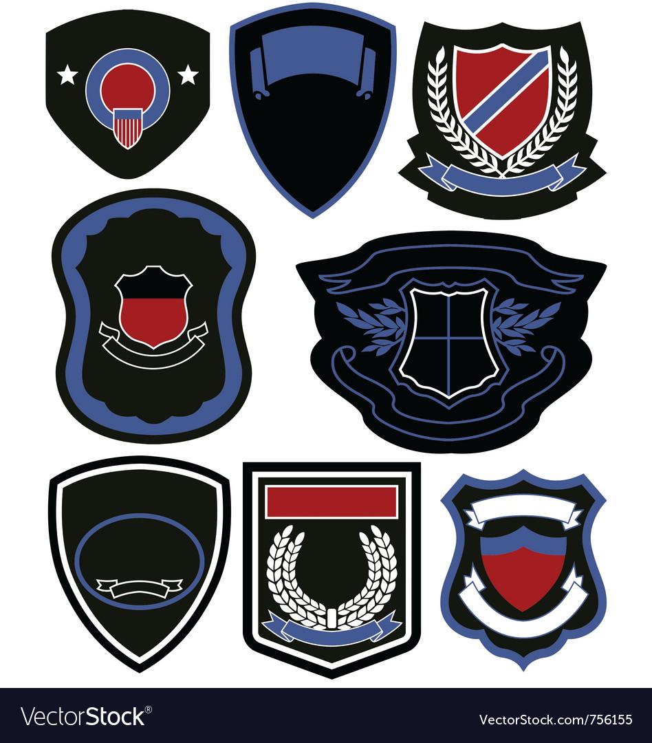 Emblem badge icon set vector image