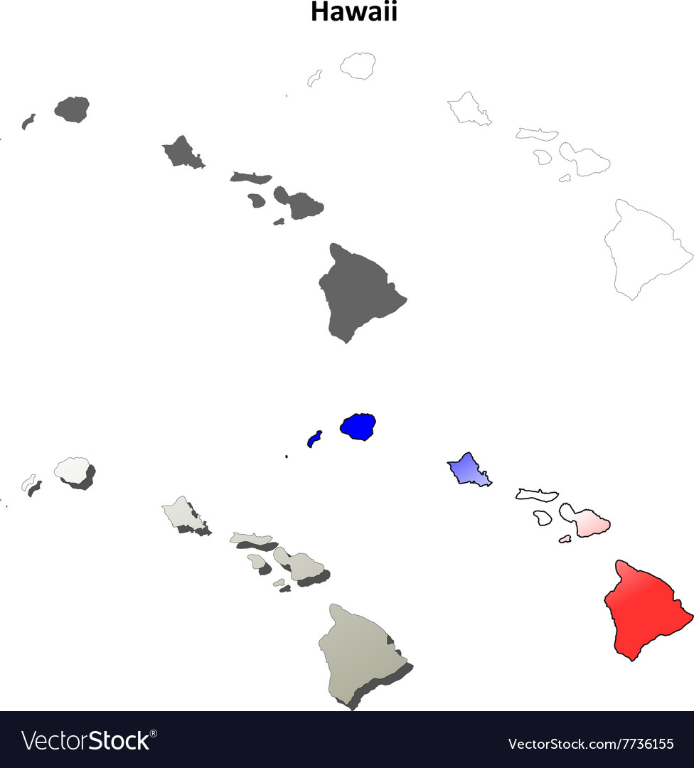 Hawaii outline map set royalty free vector image hawaii outline map set vector image gumiabroncs Gallery