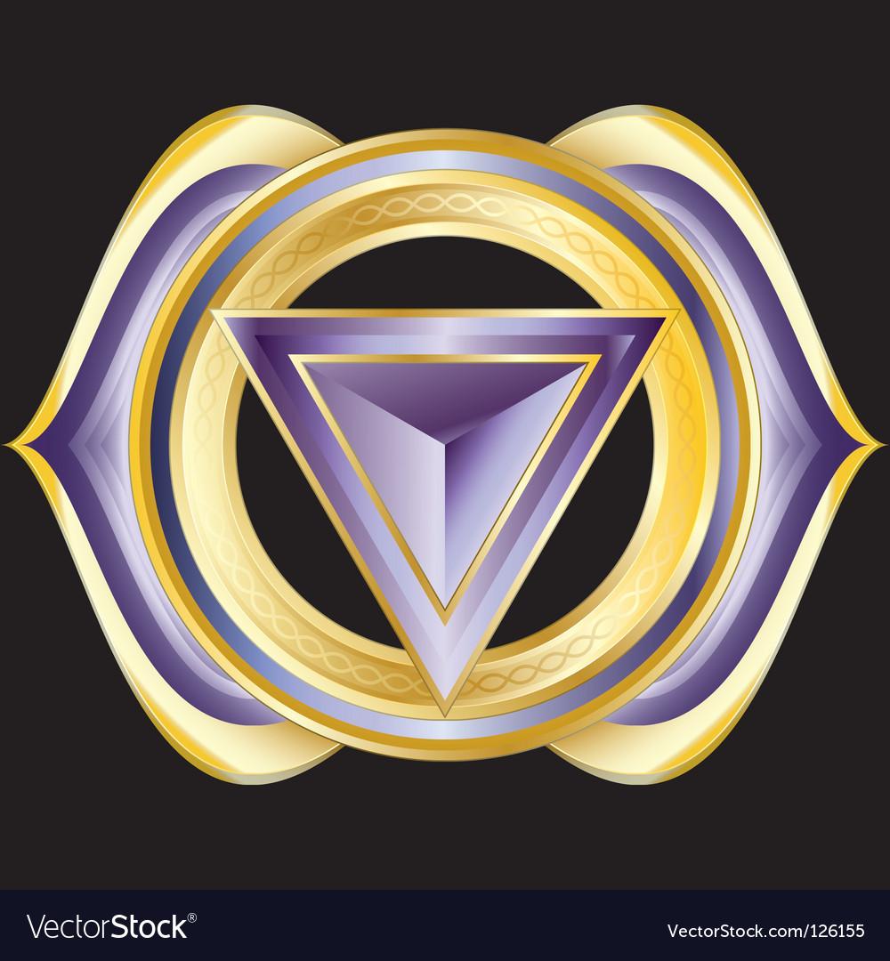 Hindu chakra ajna vector image