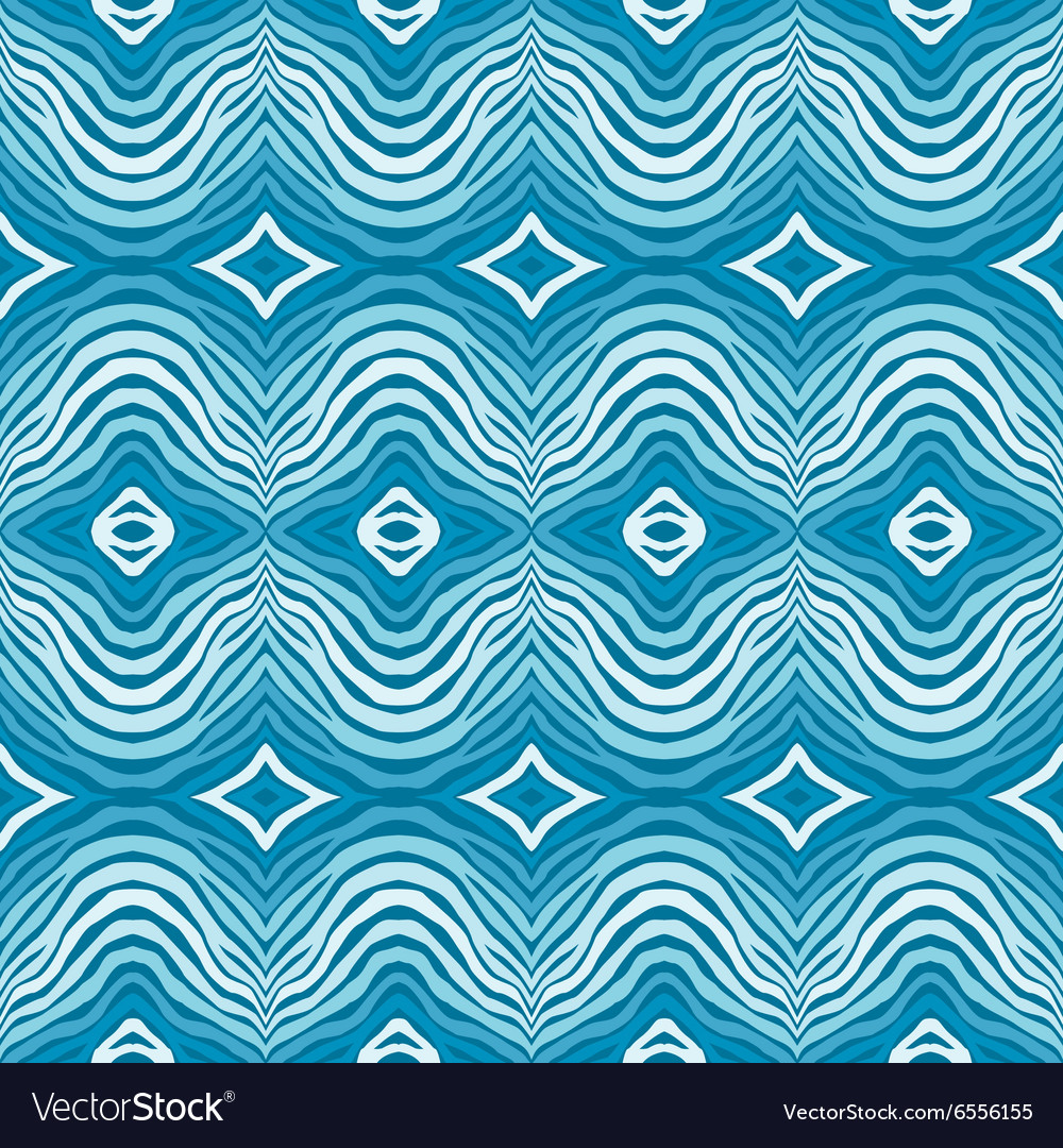 Seamless blue striped background vector image