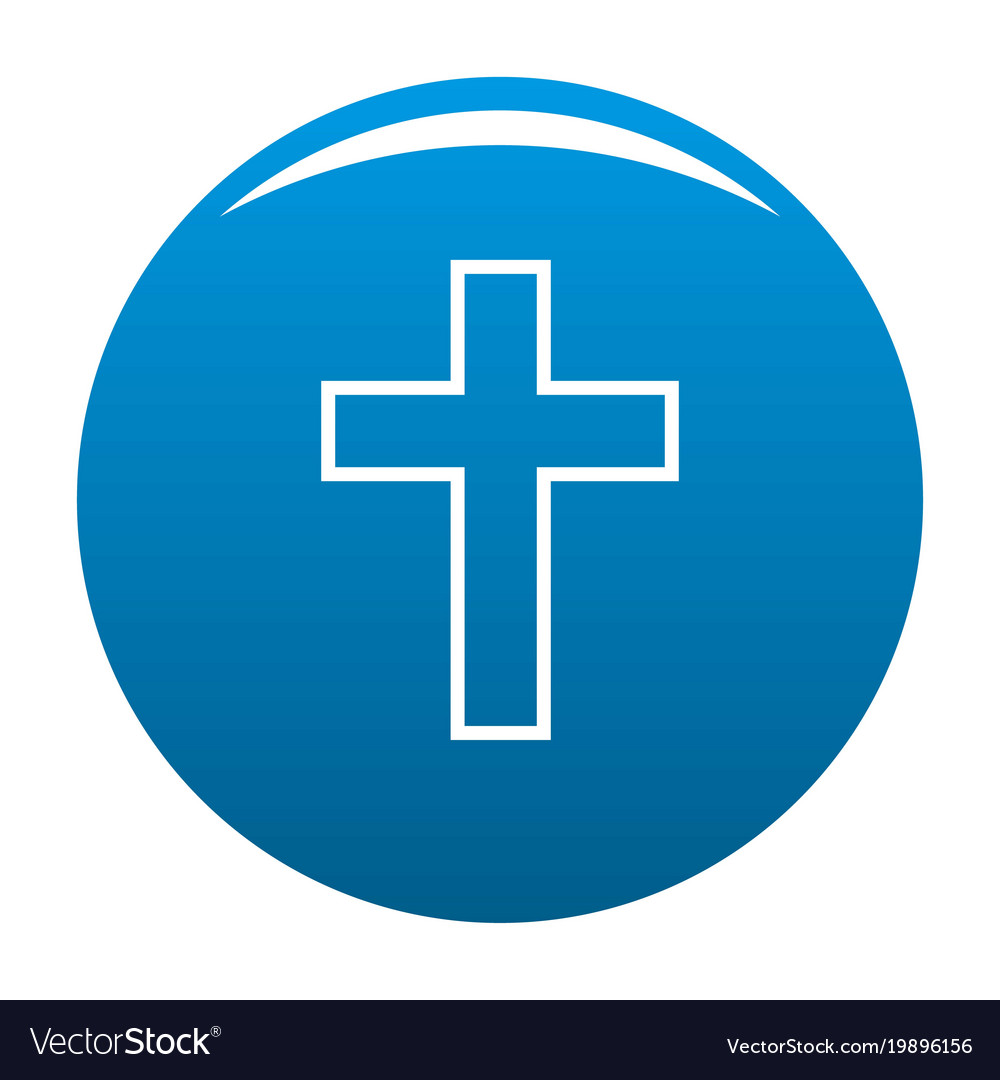 Catholic cross icon blue royalty free vector image catholic cross icon blue vector image buycottarizona