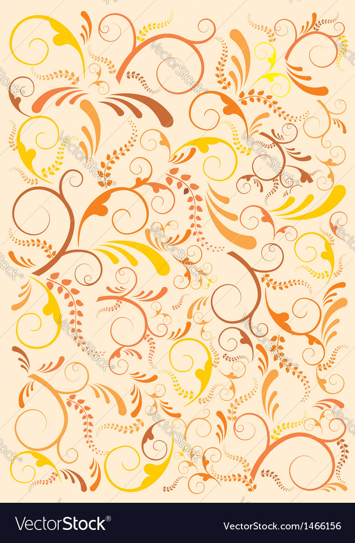 Floral India background vector image