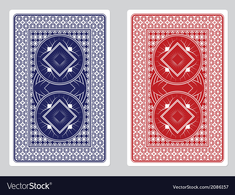 Playing Card Back Designs vector image