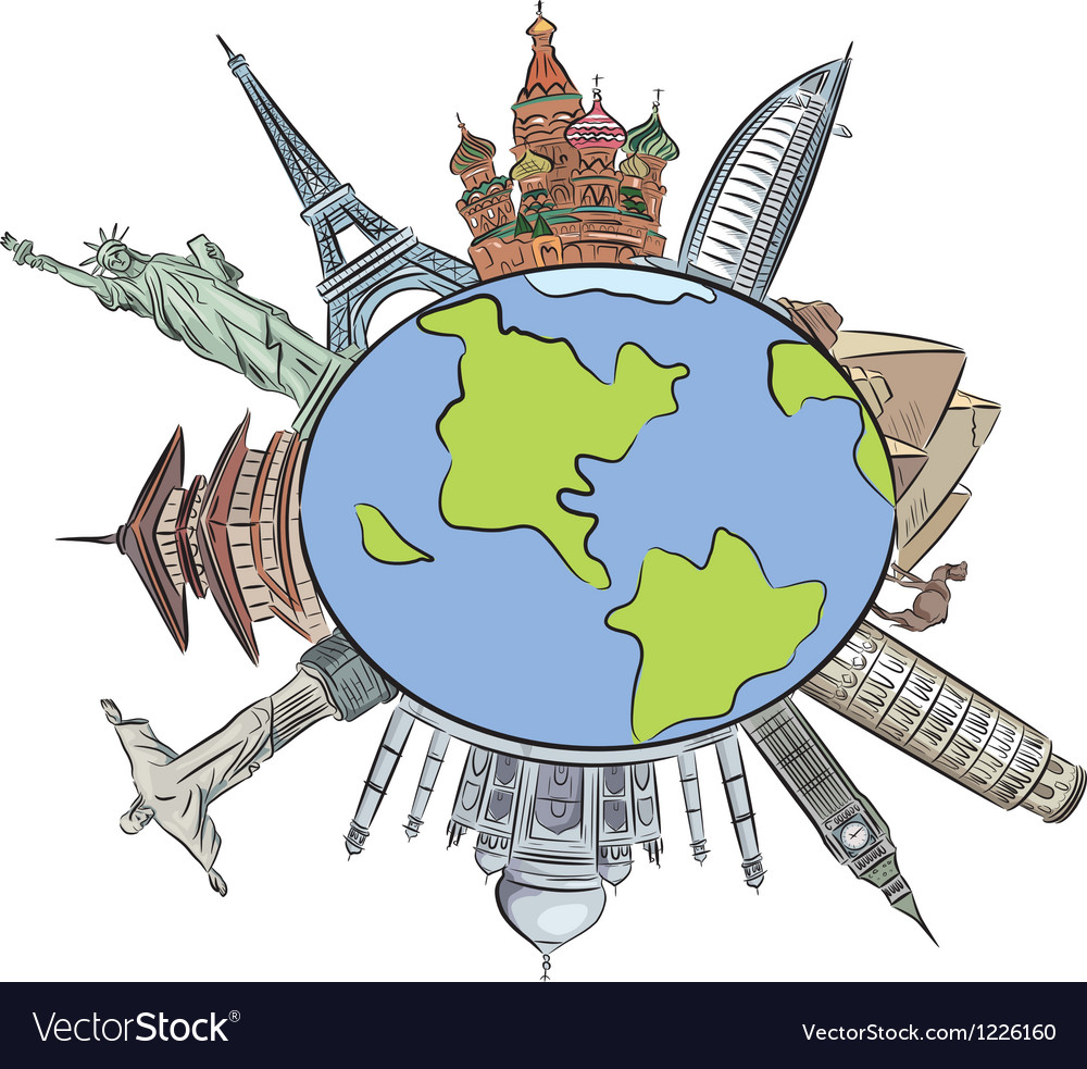 World architecture vector image