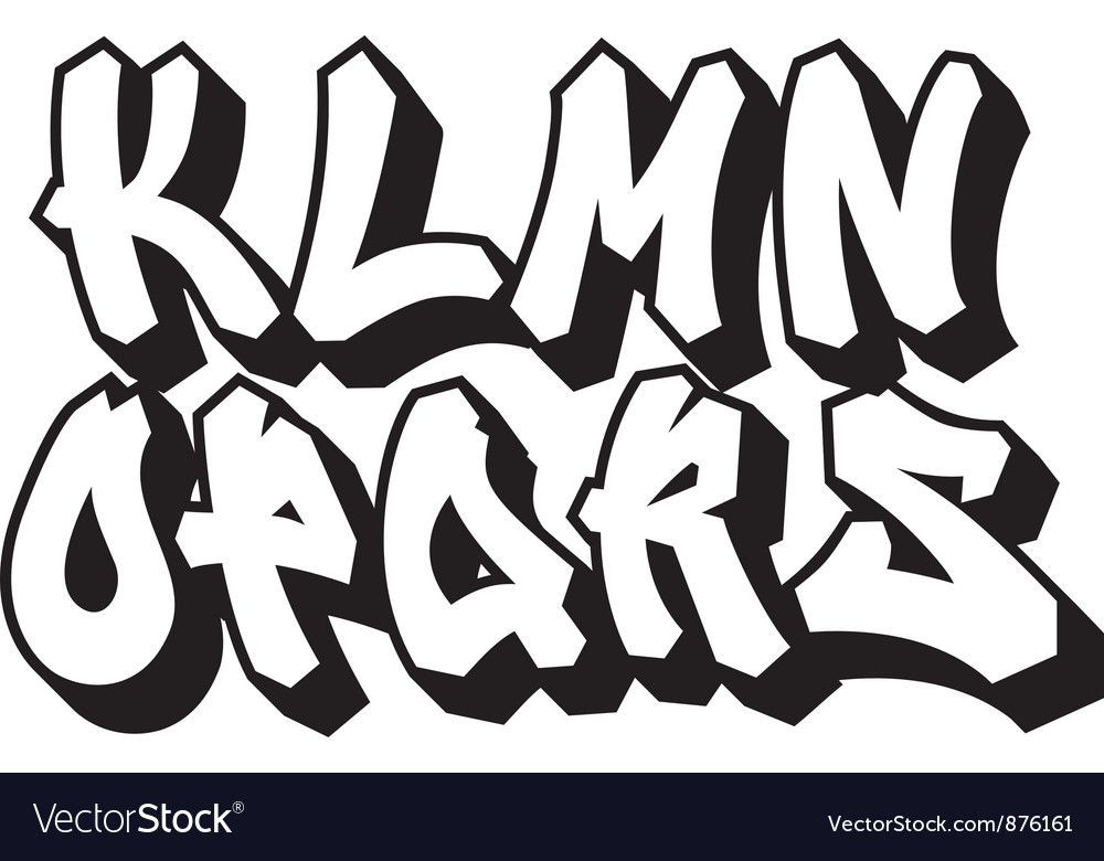Graffiti font part 2 Royalty Free Vector Image
