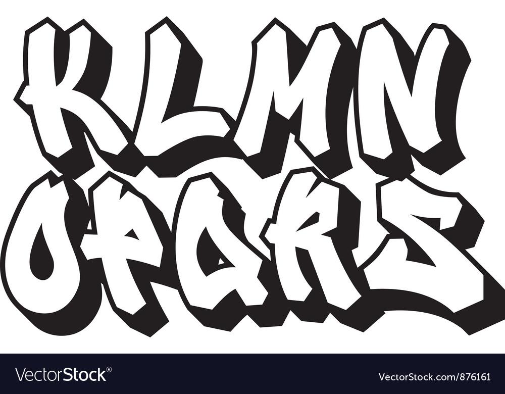 Graffiti font part 2 vector image