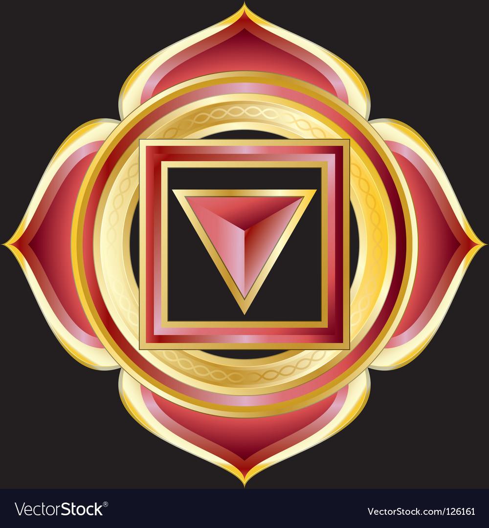 Hindu chakra muladhara medallion vector image