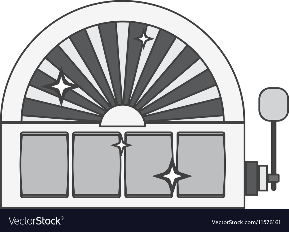 Silhouette slot machine with lever vector image