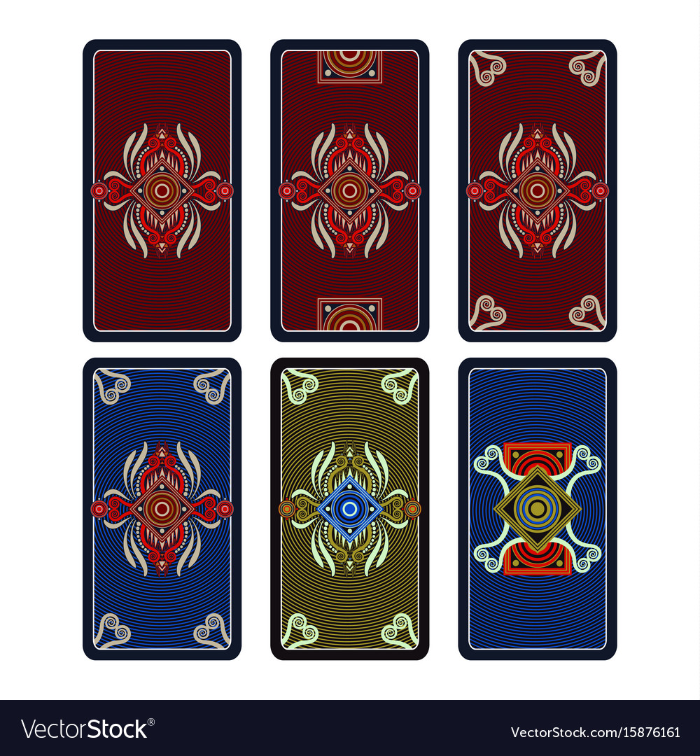 Template ornament for tarot and playing vector image