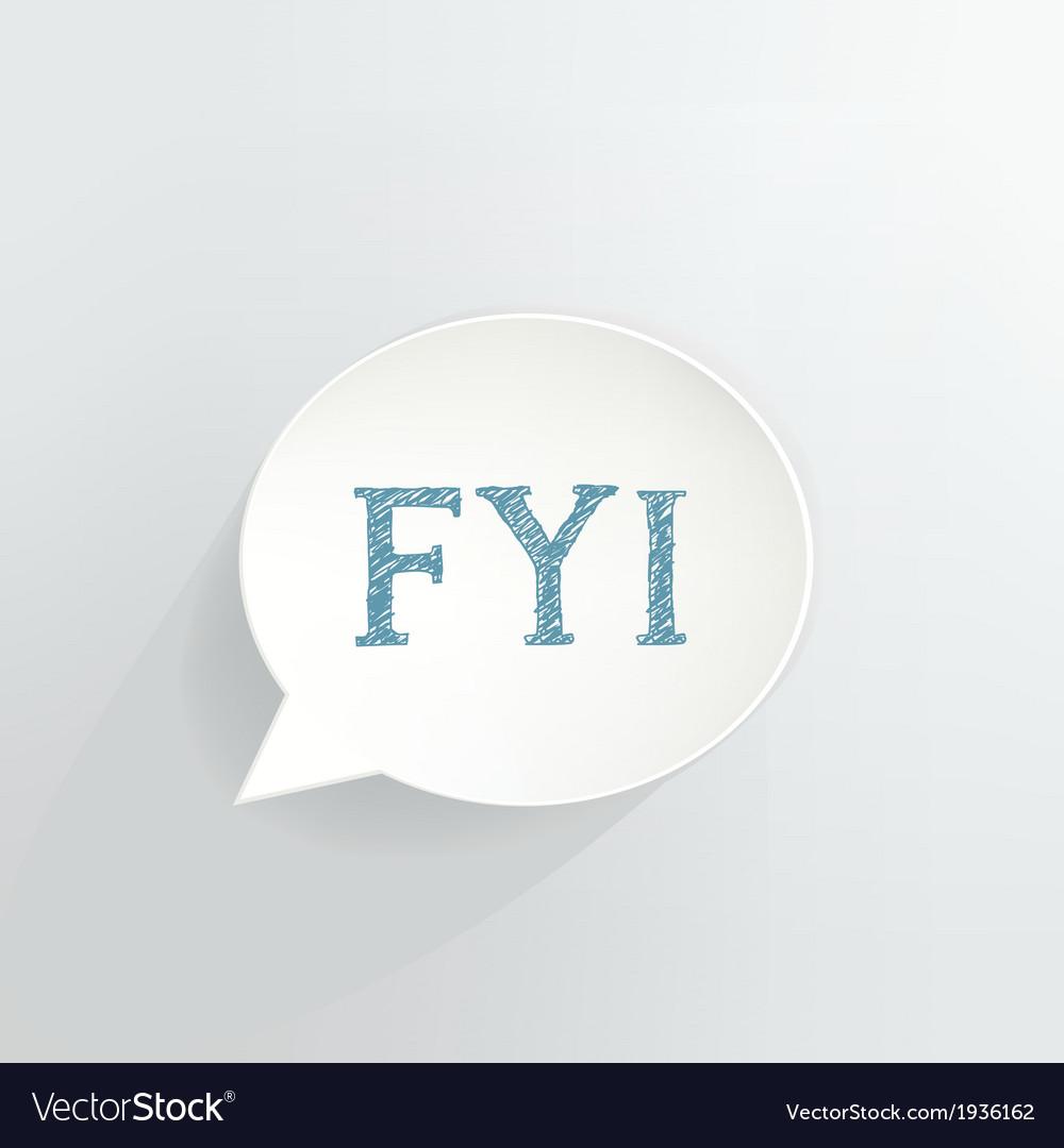 FYI vector image