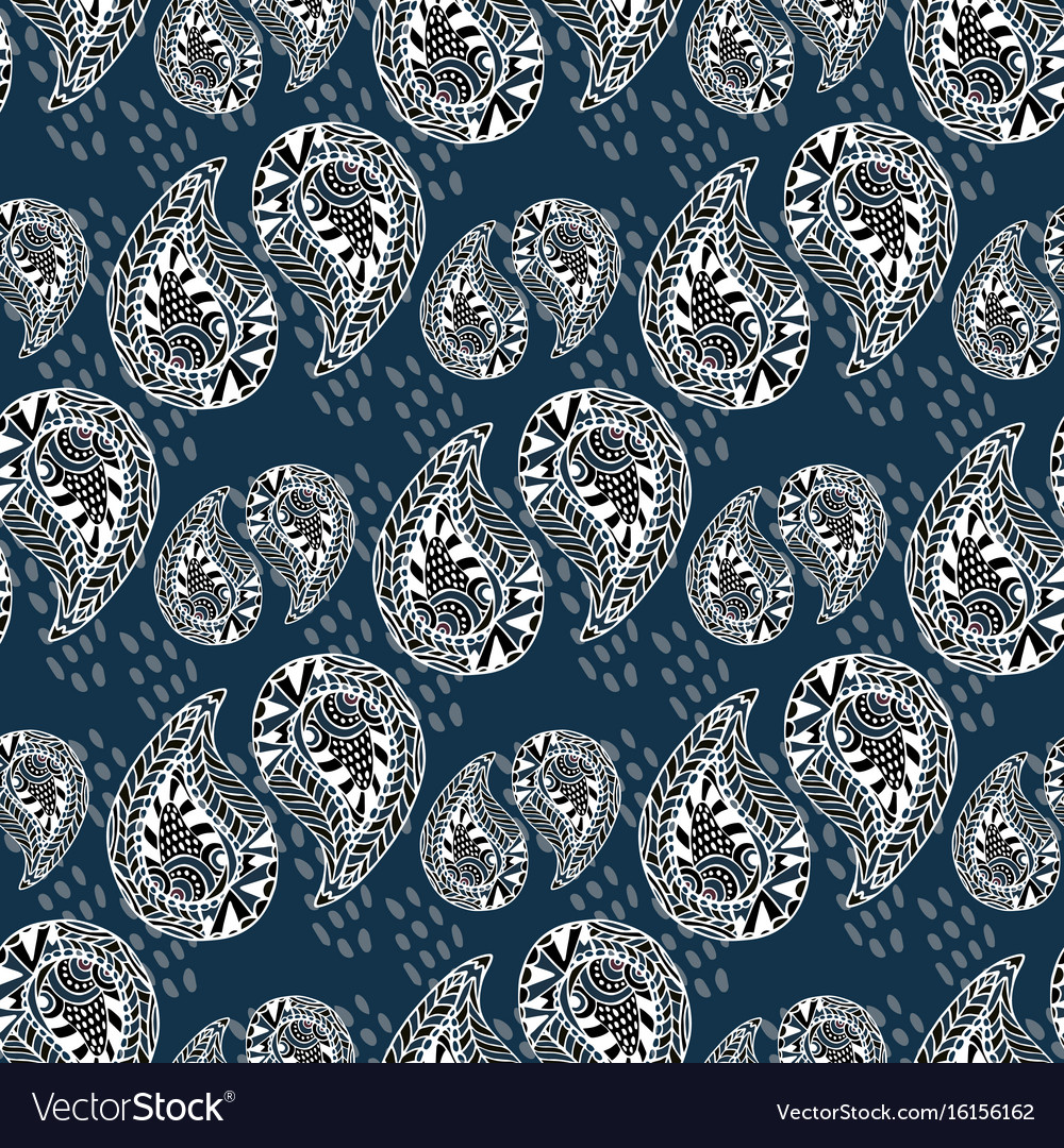Ornamental pattern vintage texture seamless vector image