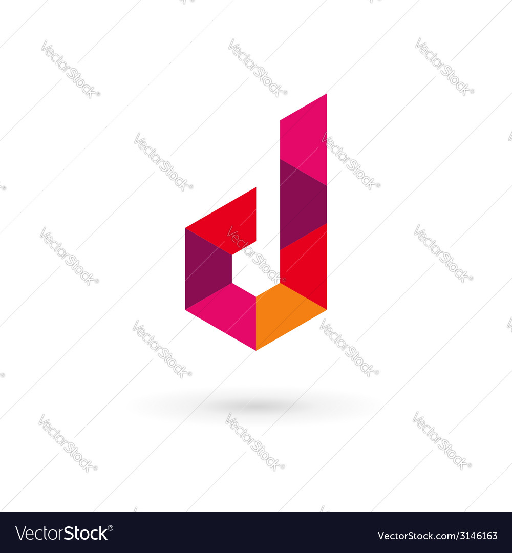 Letter D mosaic logo icon design template elements vector image