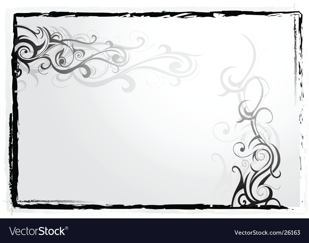 Tattoo frame vector image